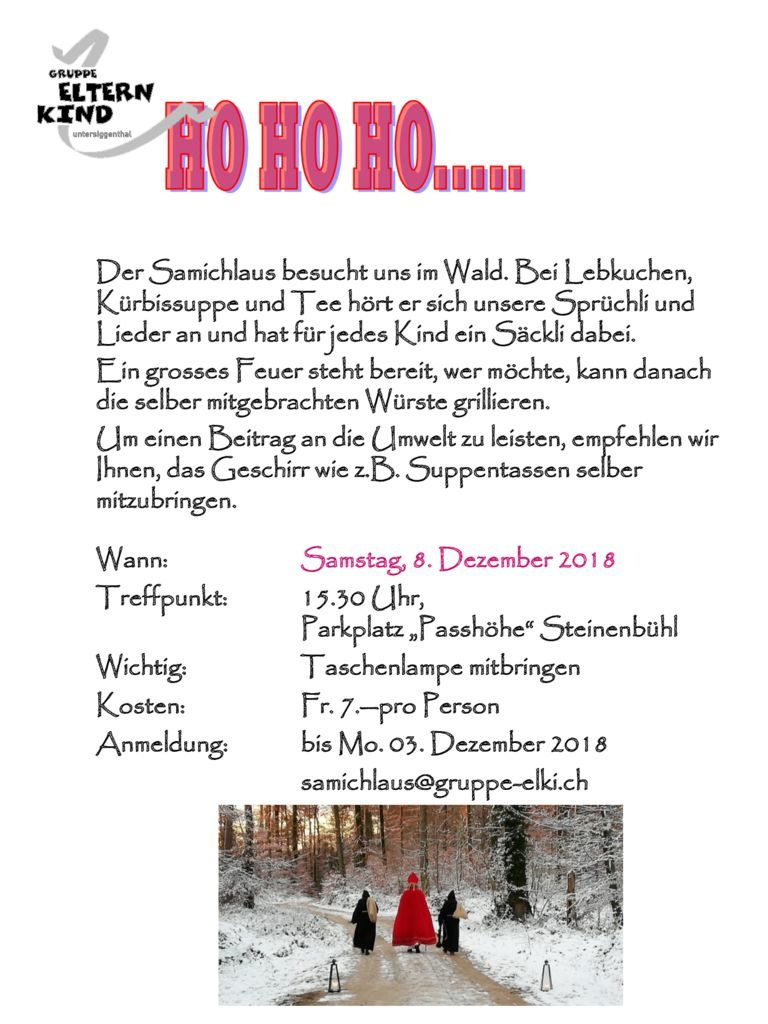 thumbnail of Flyer Samichlaus 2018